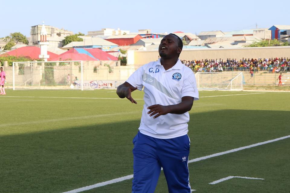 Ahmed Abdi Rahman Omar replaces Felix Nwosu as chief tactician of Heegan. Photo: Mohamed Qalinle/Goobjoog News