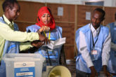 Electoral officials count votes during Somaliland's ongoing electoral process in Mogadishu, Somalia, on December 19, 2016. UN Photo / Ilyas Ahmed
