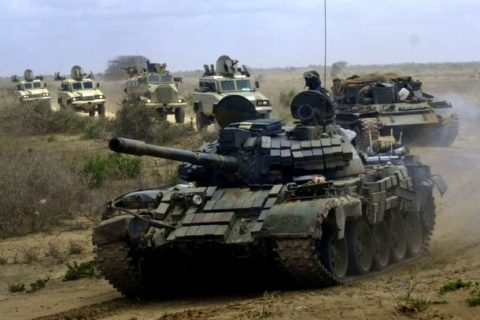 Amisom tanks in a in a past operation in Somalia. The Trump transition team has questioned US rationale in involvement on war against Al-Shabaab, a development could affect Amisom's mission in Somalia. File Photo: Internet