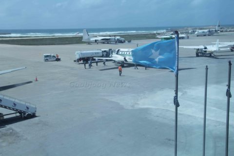 Aden Adde Airport in Mogadishu. The country's airspace has been under control of ICAO for over 20 years now. File Photo: Goobjoog News