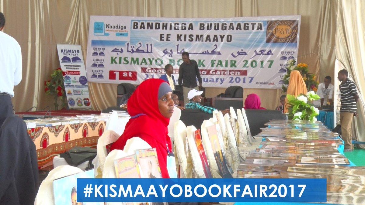 The Kismayu Book Fair opened Tuesday with 400 titles on display. Photo: Jubbaland TV