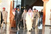 President Mohamed Abdullahi Farmaajo emerges from a meeting with Saudi leaders during his three day official visit to the Kingdom. Photo: Villa Somalia