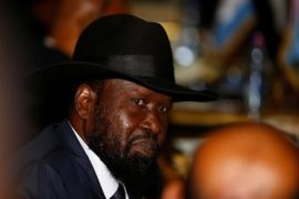 South Sudan's President Salva Kiir attends the 28th Ordinary Session of the Assembly of the Heads of State and the Government of the African Union in Ethiopia's capital Addis Ababa, January 30, 2017. Picture taken January 30, 2017. REUTERS/Tiksa Negeri