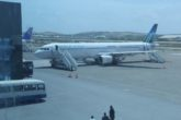 Daalo airline at Aden Adde Airport in Mogadishu. Authorities have declared the city a no fly zone until elections conclude tomorrow. File Photo: Goobjoog News