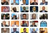 Images of candidates who will take part in the TV debate ahead of February 8 poll. Graphic: Goobjoog News