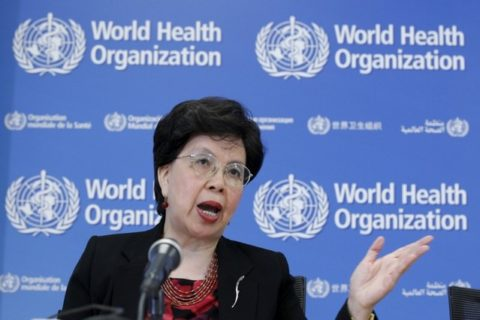 FILE PHOTO: World Health Organization (WHO) Director-General Margaret Chan addresses the media on WHO's health emergency preparedness and response capacities in Geneva, Switzerland, July 31, 2015. REUTERS/Pierre Albouy