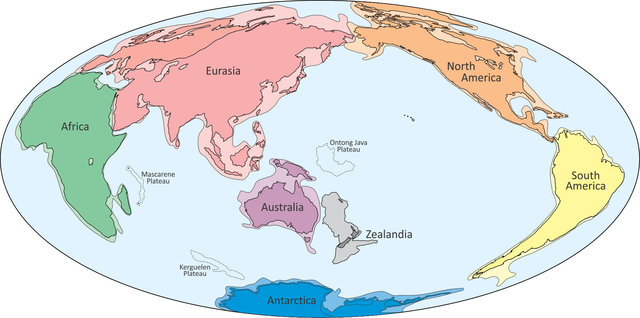 An illustration provided to Reuters February 18, 2017 shows what geologists are calling Zealandia (C), a continent two-thirds the size of Australia lurking beneath the waves in the southwest Pacific.     Nick Mortimer/GNS Science Research Institute/Handout via REUTERS   ATTENTION EDITORS - THIS IMAGE WAS PROVIDED BY A THIRD PARTY. EDITORIAL USE ONLY.  NO RESALES. NO ARCHIVE.