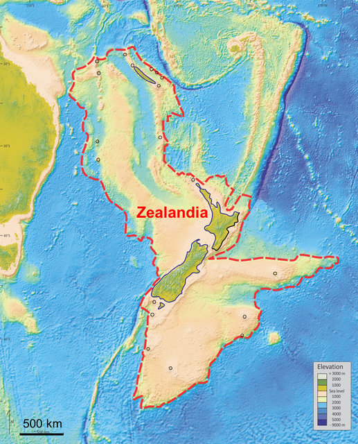 An illustration provided to Reuters February 18, 2017 shows what geologists are calling Zealandia, a continent two-thirds the size of Australia lurking beneath the waves in the southwest Pacific.     Nick Mortimer/GNS Science Research Institute/Handout via REUTERS