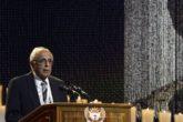 Ahmed Kathrada, close friend of former South African President Nelson Mandela, speaks during Mandela's funeral ceremony in Qunu December 15, 2013. REUTERS/Odd Andersen/File Photo