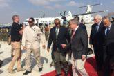 UN Secretary General Antonio Guterres is received by Foreign Affairs Minister Abdusalam Omer in Mogadishu. Photo: UN Somalia
