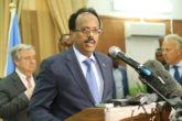 President Mohamed Farmaajo addressing the media during a media conference with UN chief Antonnio Guterres in Mogadishu.  Foreign policy expert Abukar Arman opines Farmaajo will have out the umbilical cord of dependency to earn Somalia respect in the community of nations. Photo: March 7, 2017