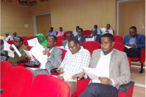 Senators following proceedings in a past seating. The Senators are proposing review of articles referring to the senate citing inconsistency. File Photo: Goobjoog News