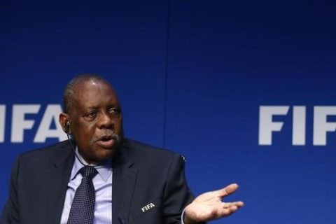 Issa Hayatou addresses a news conference after a meeting of the Executive Committee at FIFA's headquarters in Zurich, Switzerland December 3, 2015. REUTERS/Arnd Wiegmann