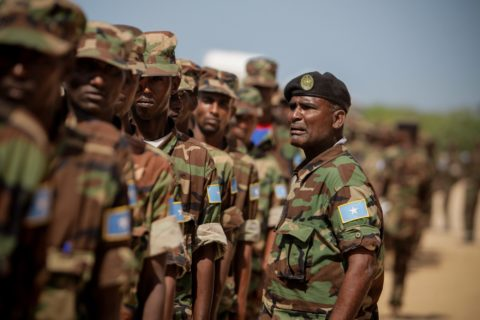 Somali troops in parade during a past function. Photo: UNSOM