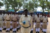 Somali Police Force in parade during a past function. The UK Friday announced the new funding will support the government's efforts in building the country's security organs. File Photo: SNP Handout