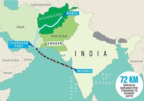 India starts trade route to Afghanistan via Iran – Goobjoog ... on india china map, india trade route art, india road map, india terrain map, india travel map, india culture map, india british empire map, india africa map, india russia map,