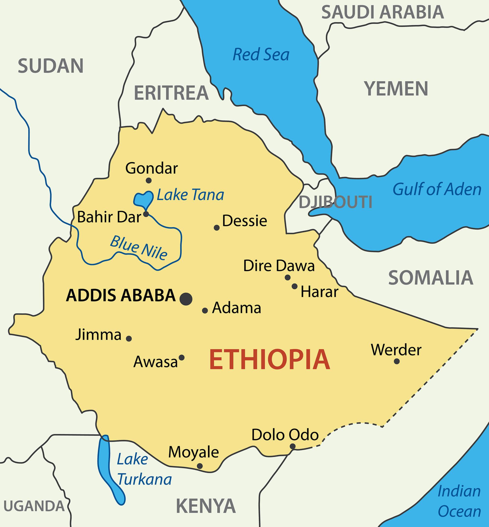 Ethiopian Cities Population