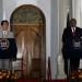 Japan's Prime Minister Shinzo Abe (L) and Kenya's President Uhuru Kenyatta attend a news conference following bilateral talks at State House in Kenya's capital Nairobi, August 28, 2016. REUTERS/Thomas Mukoya