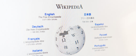 Toronto, Canada - March 6, 2011: Close up of Wikipedia's main page on an LCD computer monitor. Wikipedia is a collaborative, web-based encyclopedia.