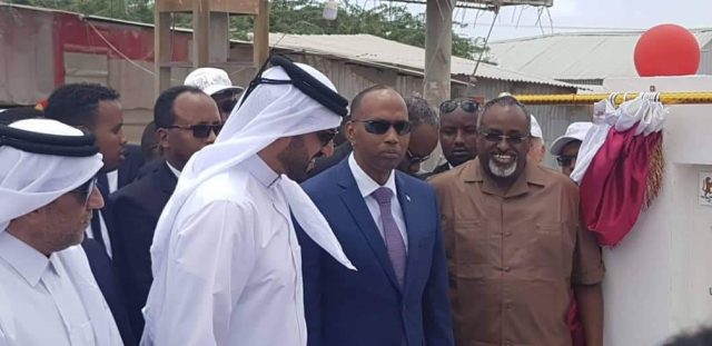 PM Kheire lays foundation stone for a new project to build